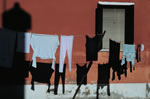 Clothes and shadows, Burano